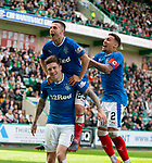 13.05.2018 Hibs v Rangers: Rangers celebrate Josh Windass' deflected goal for no 5