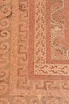 Israel, Judean desert, Masada, a mosaic