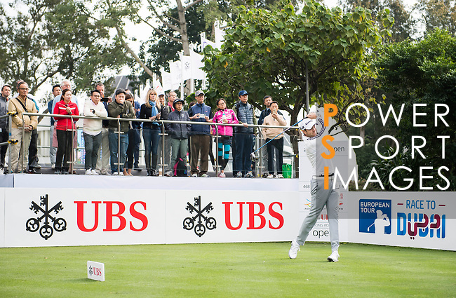 Steven Brown of England tees off during the day one of UBS Hong Kong Open 2017 at the Hong Kong Golf Club on 23 November 2017, in Hong Kong, Hong Kong. Photo by Marcio Rodrigo Machado / Power Sport Images