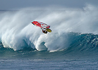 The best windsurfers in the world come to Ho'okipa,Maui, Hawaii when the conditions are good.