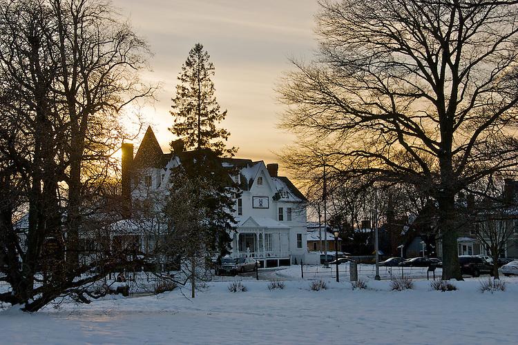 Sunset Christmas Scene Newport RI