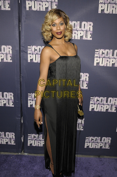 NEW YORK, NY - DECEMBER 10: Laverne Cox attends the opening night of The Color Purple at The Bernard B. Jacobs Theatre on December 10, 2015 in New York, New York. <br /> CAP/MPI/RH<br /> &copy;RH/MPI/Capital Pictures