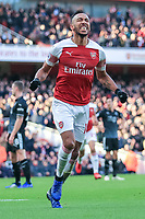 Arsenal v Burnley Premier League Pierre-Emerick Aubameyang of Arsenal celebrates scoring his goal against Burnley during the Premier League match at the Emirates Stadium, London PUBLICATIONxNOTxINxUK Copyright: xStevexO Sullivanx FIL-12716-0019  <br /> Foto Imago/Insidefoto