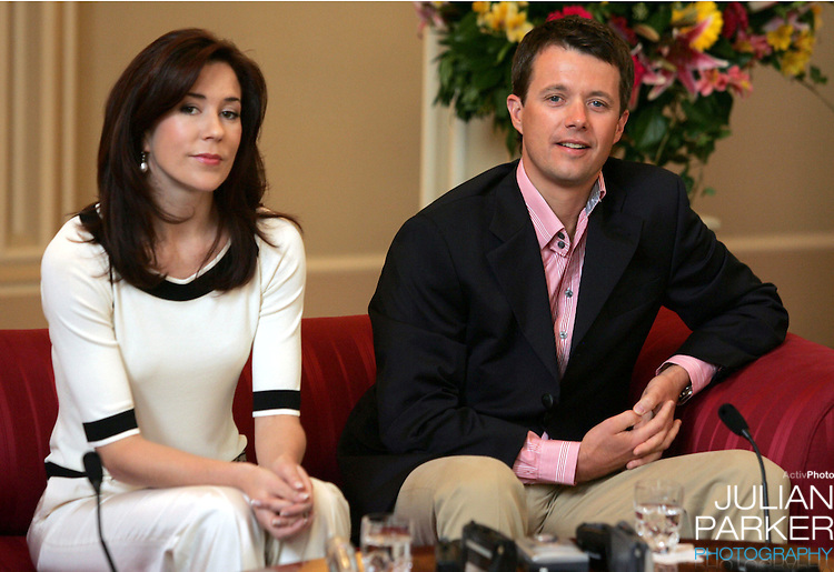 Crown Prince Frederik & Crown Princess Mary of Denmark visit Australia..Media conference at Government House in Hobart..