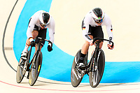 Picture by Alex Whitehead/SWpix.com - 09/12/2017 - Cycling - UCI Track Cycling World Cup Santiago - Velódromo de Peñalolén, Santiago, Chile - Germany's Maximillian Dornbach, Marc Jurczyk and Jan May compete in the Men's Team Sprint qualifying.