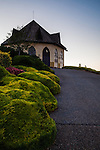 Nestled in Caldwell, Idaho within Canyon County is the beautiful St Chapelle Winery seen here from the entrance at dawn.