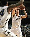 Reno Bighorns Christopher Ayer looks to pass against the Idaho Stampede during a basketball game Sunday, April 1, 2012 in Reno, Nev. Idaho won 108-99..Photo by Cathleen Allison