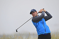 Jake Whelan (Newlands) on the 1st tee during Round 1 - Matchplay of the North of Ireland Championship at Royal Portrush Golf Club, Portrush, Co. Antrim on Wednesday 11th July 2018.<br /> Picture:  Thos Caffrey / Golffile