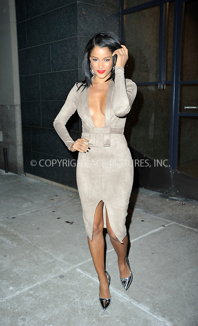 WWW.ACEPIXS.COM<br /> <br /> January 11 2015, New York City<br /> <br /> TV reality star Claudia Jordan  made an appearance at 'Watch What Happens Live on January 11 2015 in New York City<br /> <br /> Please byline: Curtis Means/ACE Pictures<br /> <br /> <br /> <br /> <br /> <br /> ACE Pictures, Inc.<br /> www.acepixs.com<br /> For information please call 646 769 0430 or 212 243 8787