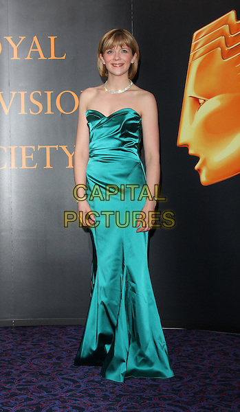 JANE DANSON.Royal Television Society Programme Awards held at the Grosvenor House Hotel, Park Lane, London, England..March 16th, 2010.RTS full length green silk satin strapless maxi dress.CAP/ROS.©Steve Ross/Capital Pictures.