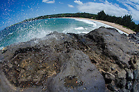 D.T. Fleming Beach Park (Fisheye), Kapalua, Maui, Hawaii, US