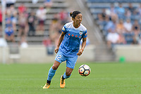 Bridgeview, IL - Sunday August 20, 2017: Yuki Nagasato during a regular season National Women's Soccer League (NWSL) match between the Chicago Red Stars and FC Kansas City at Toyota Park.