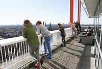 Nederland  Amsterdam  - 2017. 5de editie Open Toren Dag. 28 historische en hedendaagse torens openen hun deuren.  Het Havengebouw .  Foto Berlinda van Dam / Hollandse Hoogte