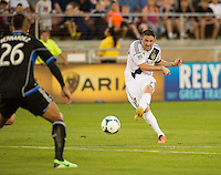 STANFORD, CA - Saturday June 29, 2013: LA Galaxy forward Robbie Keane (7) during the San Jose Earthquakes vs LA Galaxy game in Stanford Stadium at Stanford, CA. Final score SJ Earthquakes 3, LA Galaxy 2.