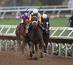 DEL MAR, CA - NOVEMBER 03: Forever Unbridled #6, ridden by John Velazquez, wins the Longines Breeders' Cup Distaff  on Day 1 of the 2017 Breeders' Cup World Championships at Del Mar Thoroughbred Club on November 3, 2017 in Del Mar, California. (Photo by Michael McInally/Eclipse Sportswire/Breeders Cup)