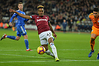 Grady Diangana of West Ham United during West Ham United vs Cardiff City, Premier League Football at The London Stadium on 4th December 2018