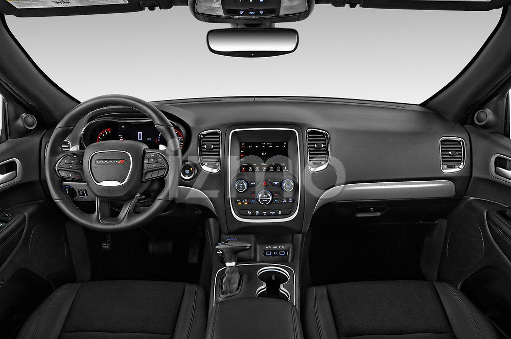 Stock photo of straight dashboard view of a 2019 Dodge Durango GT 5 Door SUV