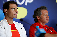 2nd January 2020; RAC Arena , Perth, Western Australia, Australia; ATP Cup Team Press conferences, Spain; Rafael Nadal and Francisco Roig Captain of Spain - Editorial Use