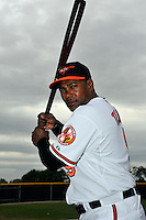 Feb 27, 2010; Tampa, FL, USA; Baltimore Orioles  infielder Miguel Tejada (9) during  photoday at Ed Smith Stadium. Mandatory Credit: Tomasso De Rosa