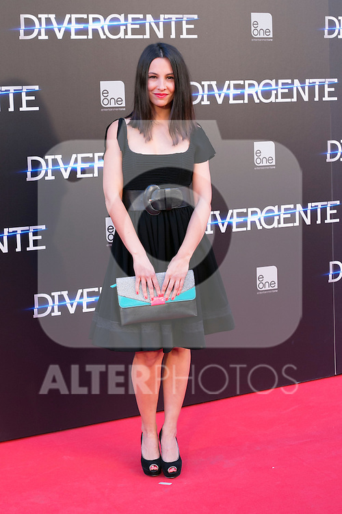 "Spanish actress Xenia Tostado attend the Premiere of the movie ""DIVERGENT"" at Callao Cinema inMadrid, Spain. April 03, 2014. (ALTERPHOTOS/Carlos Dafonte)"