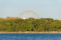 The Montreal Biosphere in Parc Jean-Drapeau on Saint Helen's Island, Montreal, Quebec, Canada