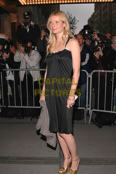"GWYNETH PALTROW.The premiere of the musical ""Sweet Charity"" on Broadway. .May 4th, 2005.Photo Credit: Patti Ouderkirk/AdMedia.full length black dress gold shoes.www.capitalpictures.com.sales@capitalpictures.com.© Capital Pictures."