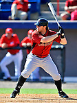 7 March 2011: Houston Astros' outfielder Jon Gaston in action during a Spring Training game against the Washington Nationals at Space Coast Stadium in Viera, Florida. The Nationals defeated the Astros 14-9 in Grapefruit League action. Mandatory Credit: Ed Wolfstein Photo
