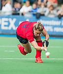 AMSTELVEEN  - Lieke van Wijk (Lar) scoort , hoofdklasse hockeywedstrijd dames Pinole-Laren (1-3). COPYRIGHT  KOEN SUYK