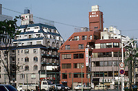 Tokyo: Stepped apartment buildings--Shinjuku District. Photo '82.