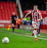 12th February 2020; Bet365 Stadium, Stoke, Staffordshire, England; English Championship Football, Stoke City versus Preston North End; James McClean of Stoke City chases down a loose ball