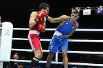 Glasgow 2014 Commonwealth Games<br /> Men's Light Heavy (81kg)<br /> Nathan Thorley, Wales (Blue) v Benjamin Taualii, Tonga (Red)<br /> 27.07.14<br /> &copy;Steve Pope-SPORTINGWALES