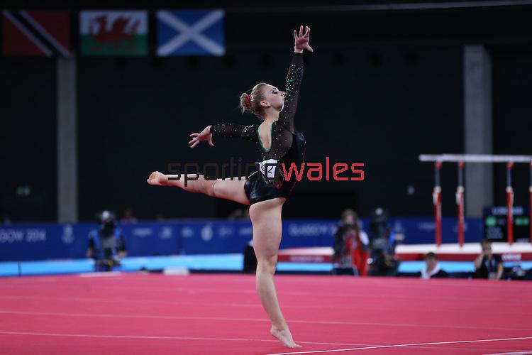 Glasgow 2014 Commonwealth Games<br /> <br /> Gymnastics Artistic Apparatus Final<br /> Elizabeth Beddoe (Wales) <br /> <br /> 01.08.14<br /> ©Steve Pope-SPORTINGWALES