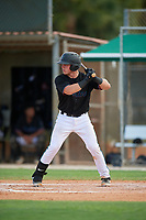 GCL Marlins Keegan Fish (7) at bat during a Gulf Coast League game against the GCL Astros on August 8, 2019 at the Roger Dean Chevrolet Stadium Complex in Jupiter, Florida.  GCL Marlins defeated GCL Astros 5-4.  (Mike Janes/Four Seam Images)