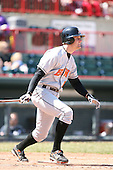 April 15th 2008:  Infielder Ryan Finan (16) of the Bowie Baysox, Class-AA affiliate of the Baltimore Orioles, during a game at Jerry Uht Park in Erie, PA.  Photo by:  Mike Janes/Four Seam Images