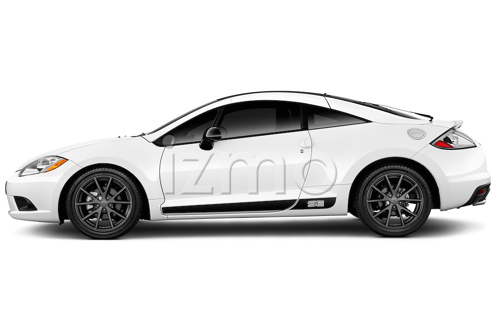 Driver side profile view of a 2012 Mitsubishi Eclipse SE.