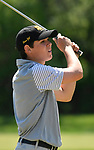 Lafayette golfer Max Kreikemeier watches his ball after teeing off a the 12th tee. The District 3 Boys Golf Championships were held at The Quarry at Crystal Springs Golf Course on Monday April 30, 2018. Tim Vizer | Special to STLhighschoolsports.com