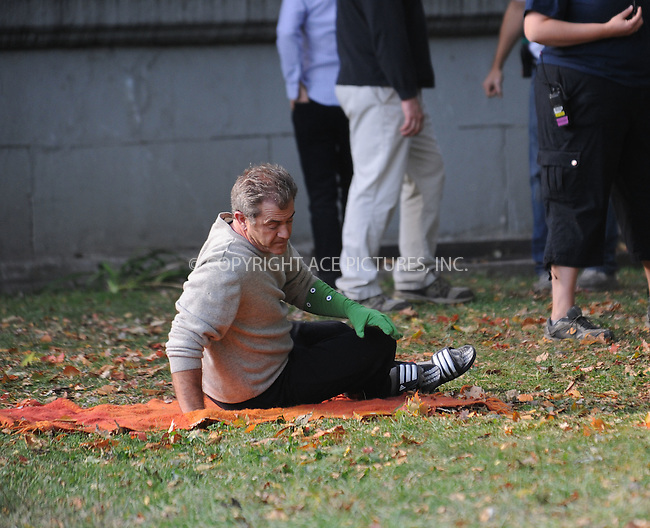 WWW.ACEPIXS.COM . . . . .  ....October 21 2009, New York City....Actor Mel Gibson shoots a scene for the new movie 'The Beaver' in Central Park on October 21 2009 in New York City....Please byline: AJ Sokalner - ACEPIXS.COM..... *** ***..Ace Pictures, Inc:  ..tel: (212) 243 8787..e-mail: info@acepixs.com..web: http://www.acepixs.com