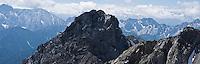 Westliche Karwendelspitze (2384m) - Mittenwalder Hoehenweg (klettersteig), Bavaria, Germany