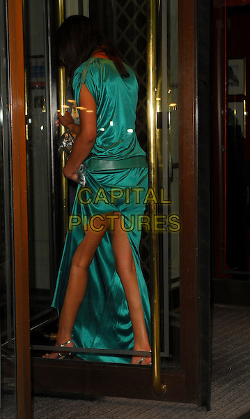MARGHERITA TAYLOR.Arrivals at the Sony Radio Academy Awards 2006 at Grosvenor House Hotel, London, UK..May 8th, 2006.Ref: CAN.full length blue dress satin back behind rear slit split.www.capitalpictures.com.sales@capitalpictures.com.© Capital Pictures.