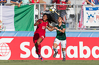 Bradenton, FL - Sunday, June 12, 2018: Smith Hunter, Ximena Rios during a U-17 Women's Championship Finals match between USA and Mexico at IMG Academy.  USA defeated Mexico 3-2 to win the championship.