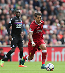 Liverpool's Roberto Firmino in action during the premier league match at the Anfield Stadium, Liverpool. Picture date 19th August 2017. Picture credit should read: David Klein/Sportimage