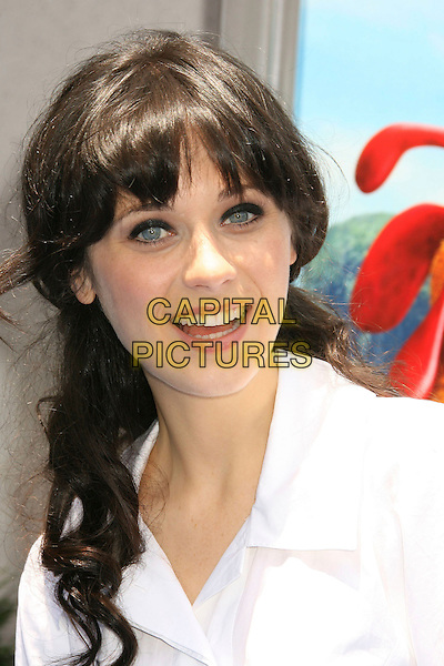 "ZOOEY DESCHANEL.""Surf's Up"" Los Angeles Premiere held at the Mann Village Theater, Westwood, California, USA, 02 June 2007.portrait headshot .CAP/ADM/RE.©Russ Elliot/AdMedia/Capital Pictures. *** Local Caption *** ."