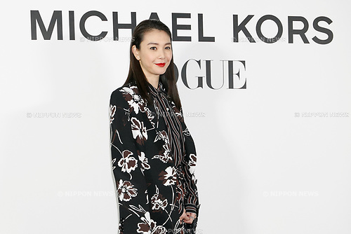 Japanese model Kurara Chibana attends the photo call for the event ''Michael Kors Watch Hunger Stop Charity Gala Dinner in Tokyo'' at the Riva degli Etruschi restaurant on November 13, 2017, Tokyo, Japan. The event was organised in collaboration with VOGUE JAPAN to raise money for delivering meals to malnourished children around the world. (Photo by Rodrigo Reyes Marin/AFLO)