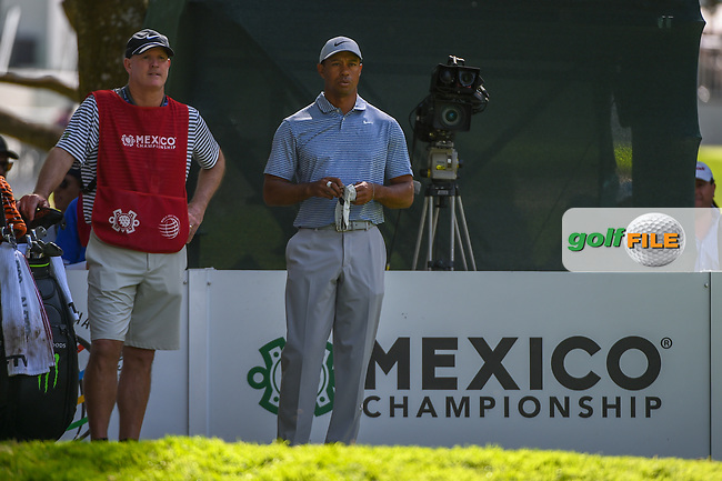 Tiger Woods (USA) looks over his tee shot on 7 during round 1 of the World Golf Championships, Mexico, Club De Golf Chapultepec, Mexico City, Mexico. 2/21/2019.<br /> Picture: Golffile | Ken Murray<br /> <br /> <br /> All photo usage must carry mandatory copyright credit (© Golffile | Ken Murray)