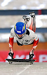 15 December 2006: Amy Gough from Canada, starts her run at the FIBT Women's World Cup Skeleton Competition at the Olympic Sports Complex on Mount Van Hoevenburg  in Lake Placid, New York, USA. &amp;#xA;&amp;#xA;Mandatory Photo credit: Ed Wolfstein Photo<br />