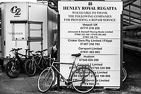 Henley-on-Thames. United Kingdom.  List of companies offering a complementary service to crews competing at the 2017 Henley Royal Regatta, Henley Reach, River Thames. <br /> <br /> 10:49:53  Tuesday  27/06/2017   <br /> <br /> [Mandatory Credit. Peter SPURRIER/Intersport Images.