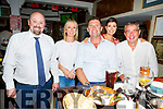 Aidan Teahan, Olwyn Delaney, Niall and Gillian Quinn and  David Whelan at the Brogue Inn on Saturday night.