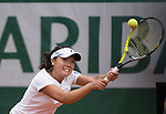 Kurumi Nara (JPN) loses to Jelena Jankovic (SRB) 7-5, 6-0 at  Roland Garros being played at Stade Roland Garros in Paris, France on May 29, 2014