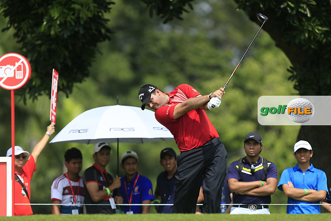 Patrick Reed (USA) on the 7th tee during Round 2 of the CIMB Classic in the Kuala Lumpur Golf &amp; Country Club on Friday 31st October 2014.<br /> Picture:  Thos Caffrey / www.golffile.ie