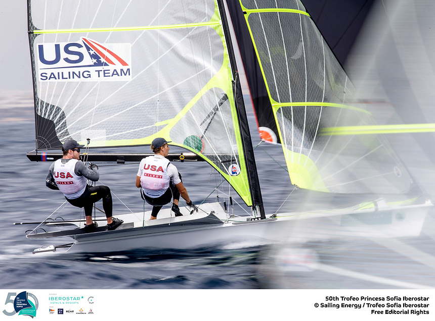 The Trofeo Princesa Sofia Iberostar celebrates this year its 50th anniversary in the elite of Olympic sailing in a record edition, to be held in Majorcan waters from 29th March to 6th April, organised by Club Nàutic S'Arenal, Club Marítimo San Antonio de la Playa, Real Club Náutico de Palma and the Balearic and Spanish federations. <br /> <br /> ©Pedro Martinez/SAILING ENERGY/50th Trofeo Princesa Sofia Iberostar <br /> 03 April, 2019.
